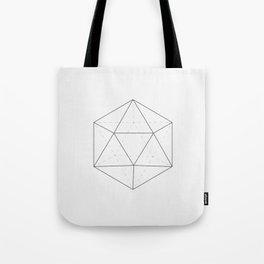 Black & white Icosahedron Tote Bag