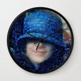 The Blue Cloche Hat Wall Clock