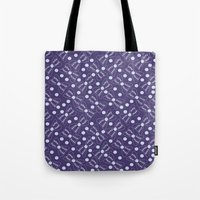 bow Tote Bags featuring Bow by Sproot