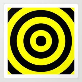 Target (Black & Yellow Pattern) Art Print