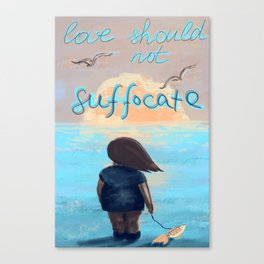 Love suffocate Canvas Print