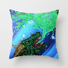 green dragon fire artist Throw Pillow