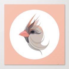Pink in bird Canvas Print