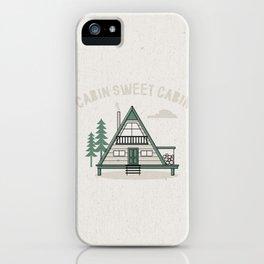 Cabin Sweet Cabin iPhone Case