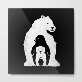 Arctic Friends Metal Print