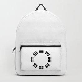 Black Hexagon I ching Feng Philosophy Backpack
