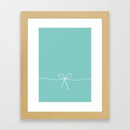 Tiffany Blue With a Bow Framed Art Print