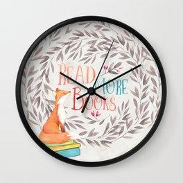 Read More Books - Fox Wall Clock