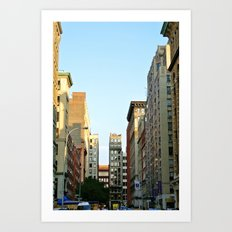 Sunset at NYU Art Print
