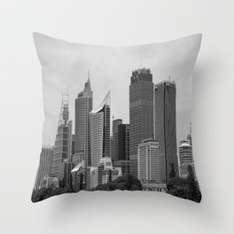 Retro Skyline Throw Pillow