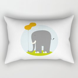 An Elephant With a Peanut Balloon Rectangular Pillow