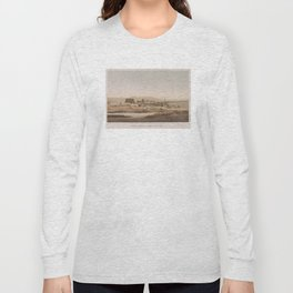 Vintage Illustration of the Thebes Ruins (1856) Long Sleeve T-shirt