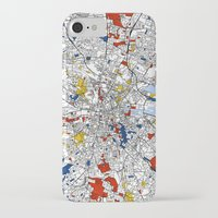 dublin iPhone & iPod Cases featuring Dublin mondrian by Mondrian Maps