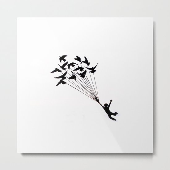 Children Fly Pigeon Metal Print