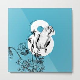 Ampersand & Bird & Flowers Metal Print