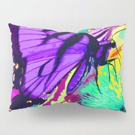 Purple butterfly beauty 1 Pillow Sham