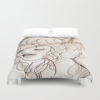 inspiration Duvet Covers featuring Inspiration by StaceyPatinoArt
