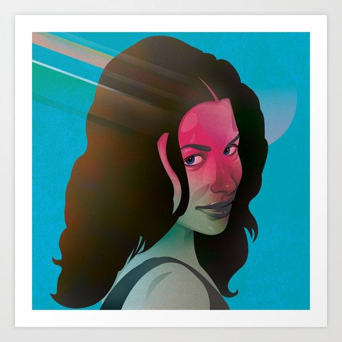Classy- Evangeline Lilly Art Print