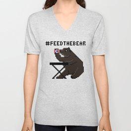 Feed The Bear Unisex V-Neck