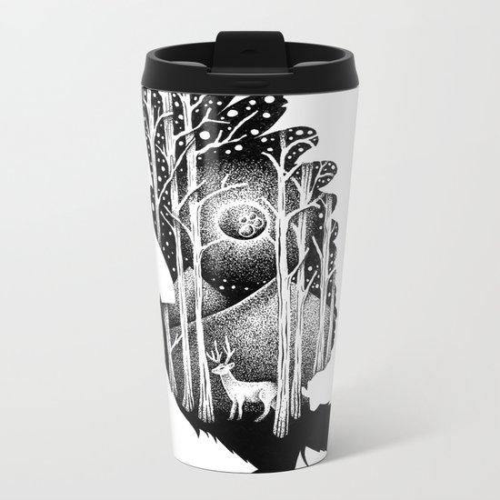 THE OWL AND THE DEER Metal Travel Mug