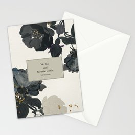 We live and breathe words. Will Herondale. Clockwork Prince. Stationery Cards