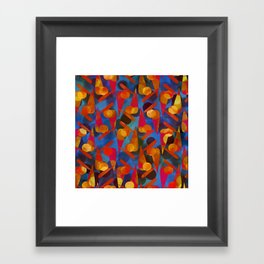 Funky Pattern Framed Art Print