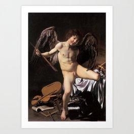 """Michelangelo Merisi da Caravaggio """"Amor Vincit Omnia"""" Art Print"""