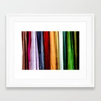 striped Framed Art Prints featuring Striped by Anne Seltmann