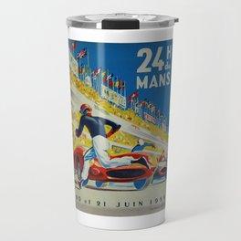 24hs Le Mans, 1959, vintage poster Travel Mug