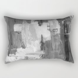 Paint (Black and White) Rectangular Pillow