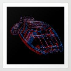 Classic Galactica 3D Art Print