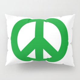 Green Peace Sign, Power of Peace, Power of Love, Social Justice Warrior, Super Sharp PNG Pillow Sham