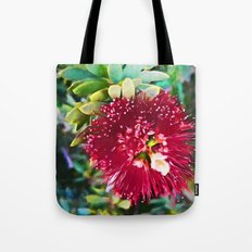 Light on a Red Flower 2 Tote Bag