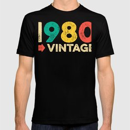 40th birthday 1980 Vinatge gift T-shirt