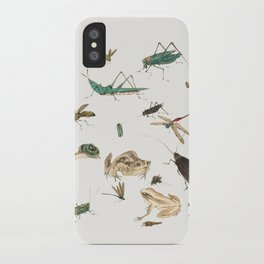 Insects, frogs and a snail iPhone Case