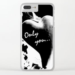 Heart in black Clear iPhone Case