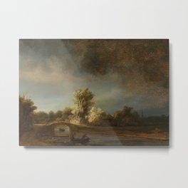 Landscape with a Stone Bridge Metal Print