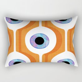 Eye Pod Orange Rectangular Pillow