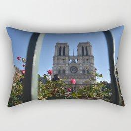 Notre Dame Cathedral Paris France Rectangular Pillow