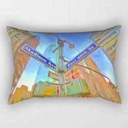 New York Street Sign Pop Art Rectangular Pillow