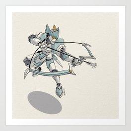 Knight Robo PSI—The Falcon Knight of Orros Art Print