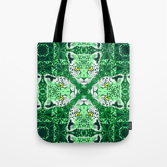 Emerald Leopard  Tote Bag