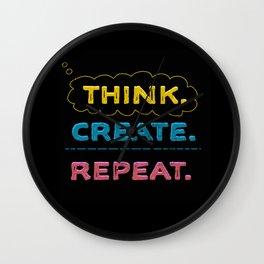 Think. Create. Repeat.  Wall Clock