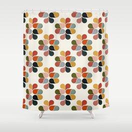 Retro geometry pattern Shower Curtain