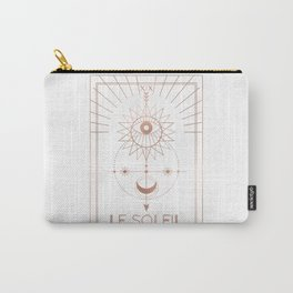 Le Soleil or The Sun Tarot White Edition Carry-All Pouch