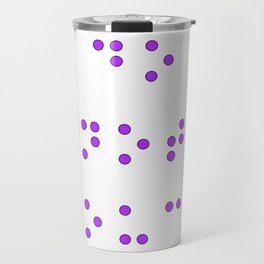 Do Not Touch in Braille in Purple Travel Mug
