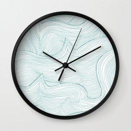 seafoam wave pattern Wall Clock