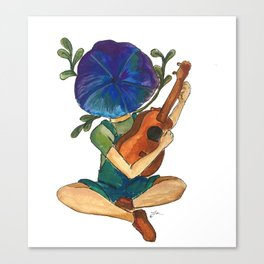 Just play your ukulele Canvas Print