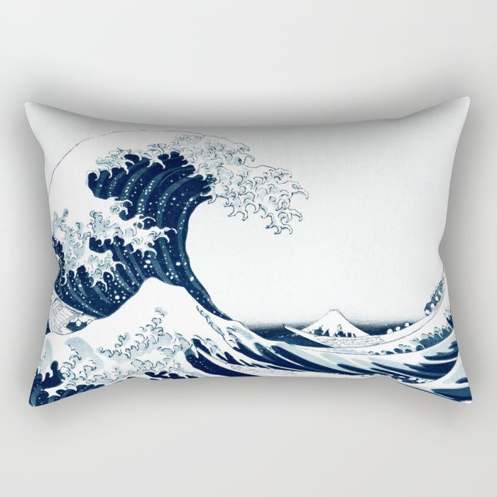 The Great Wave - Halftone Rectangular Pillow