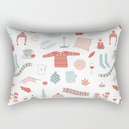 Hygge Cosy Things Rectangular Pillow